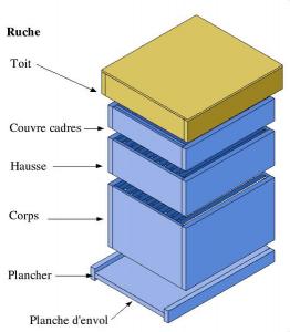 composition d'une ruche verticale